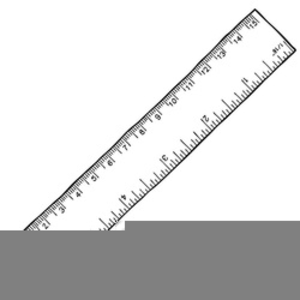 Ruler Clipart Black And White.