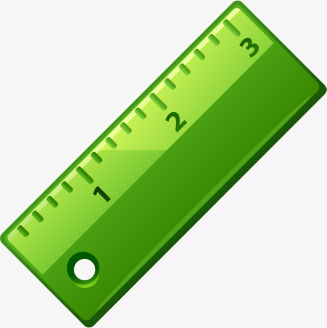 Hand Painted Green Ruler Ruler Clipart Hand Scale Png Image.