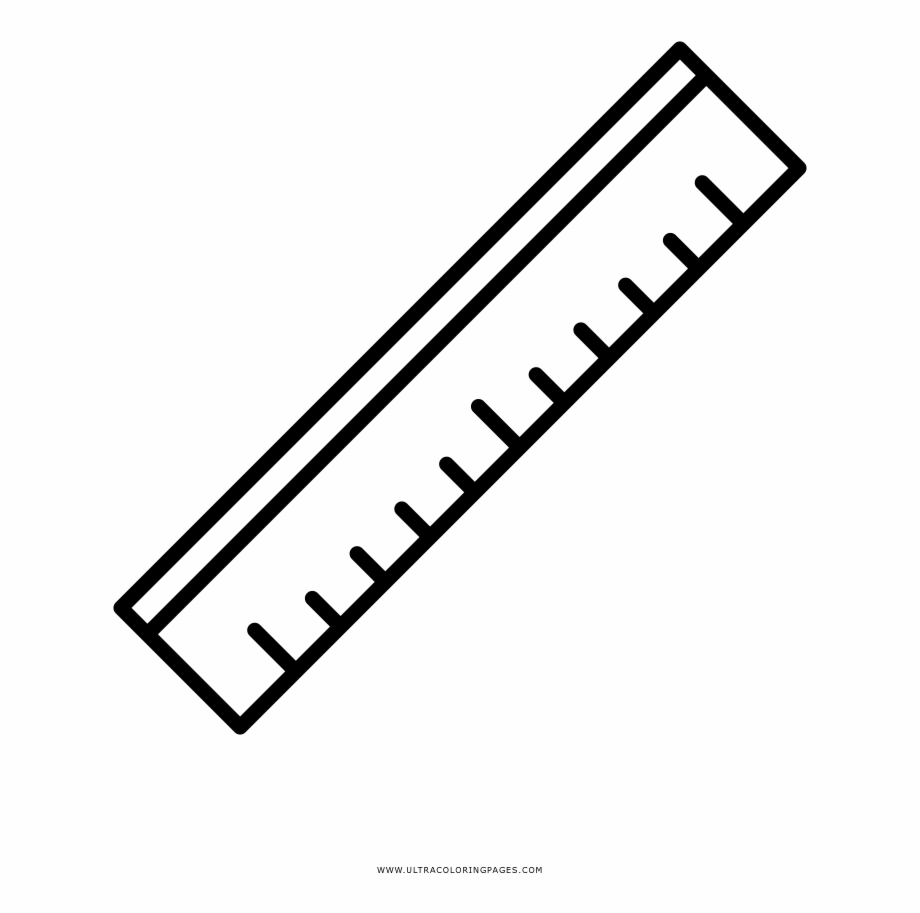 Drawing Rulers Coloring Page.