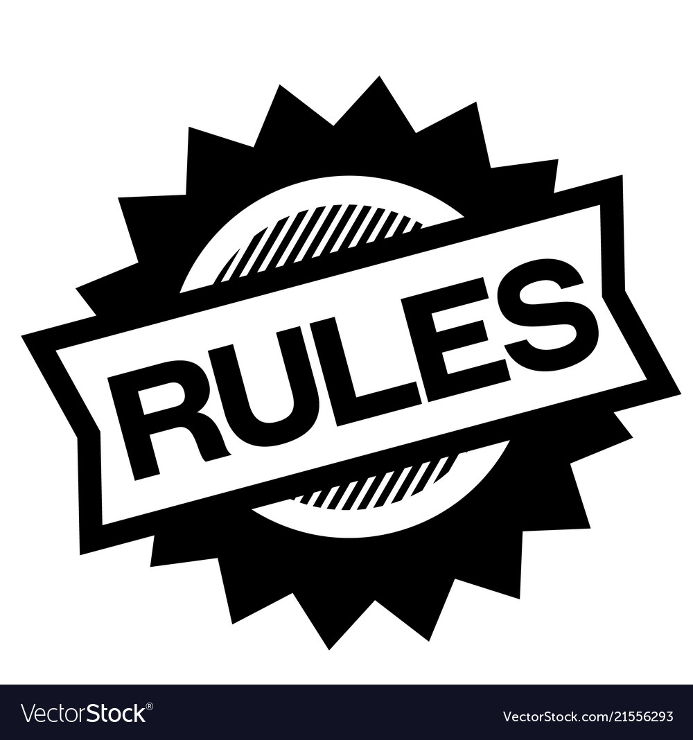 Rules black stamp.