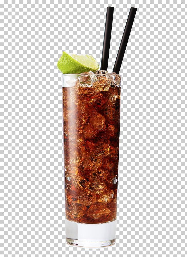 Rum and Coke Cocktail Daiquiri Mojito Vodka, Drink, clear.