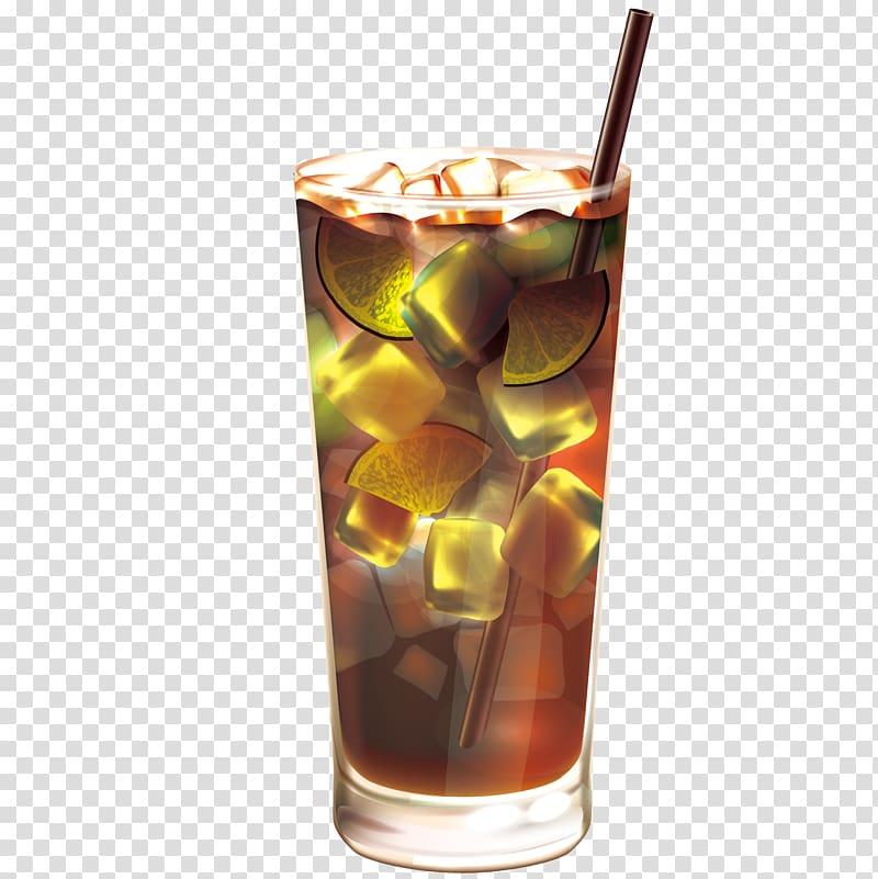 Rum and Coke Juice Coffee Tea Black Russian, Frozen fruit.