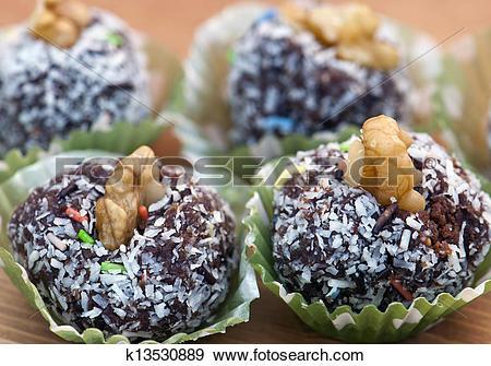 Stock Photograph of Rum balls k13530889.