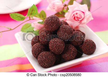 Pictures of chocolate rum balls.