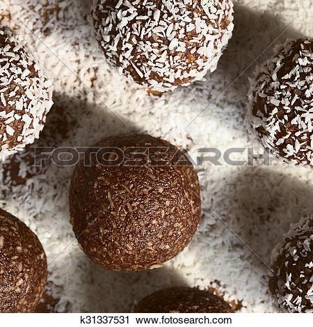 Stock Photography of Coconut Rum Balls k31337531.
