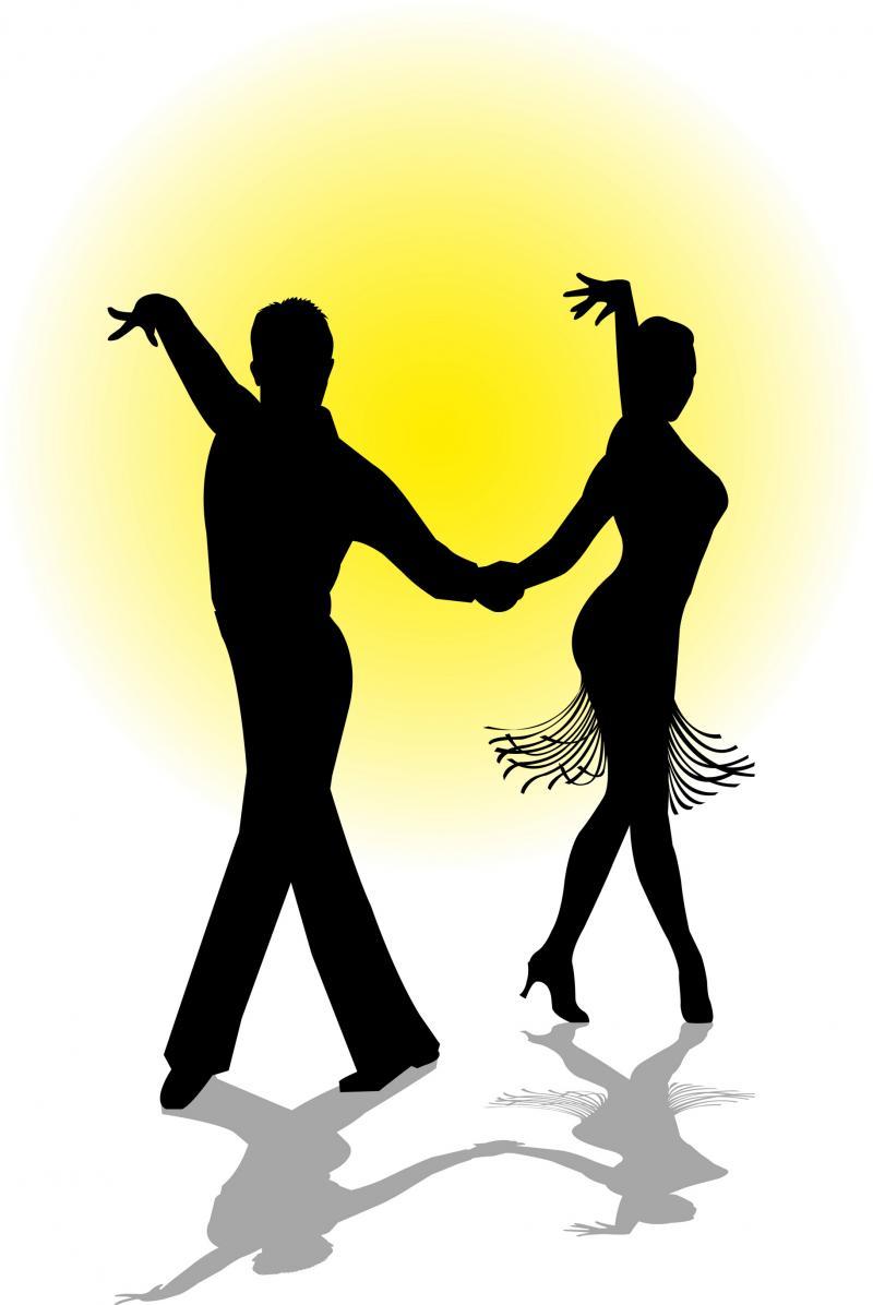 Merengue dance clipart.