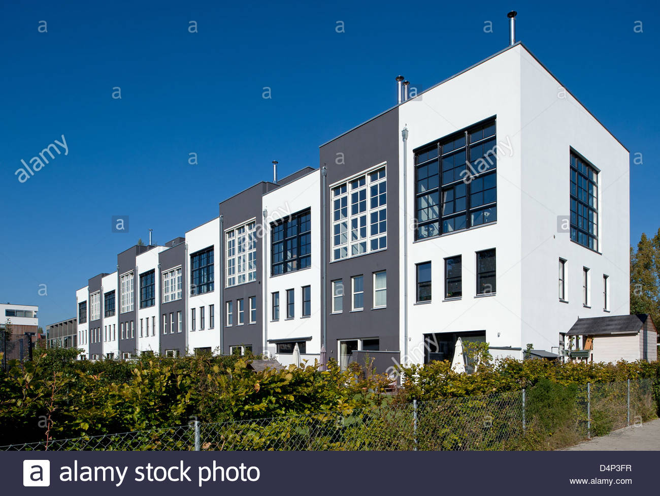 Berlin, Germany, At The Newly Built Townhouses Rummelsburg Bay.