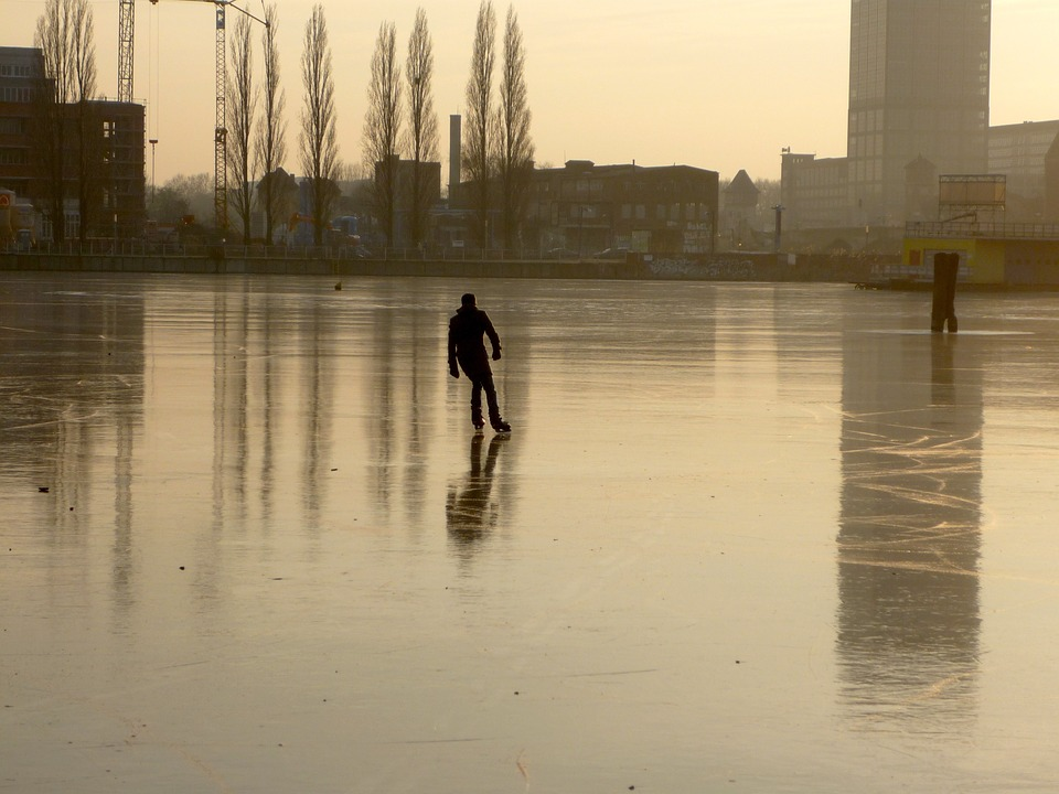 Free photo: Rummelsburg Bay, Berlin, Winter.