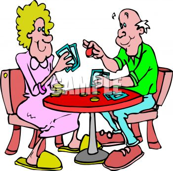People Playing Cards Clip Art.