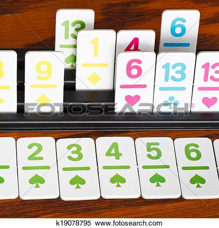 Stock Image of card rack in rummy card game close up k19078795.