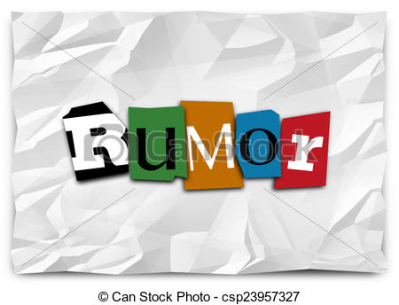 Rumor Has It Clip Art.