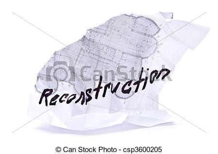 Stock Illustrations of Rumpled plan.
