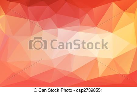 Clipart Vector of colorful abstract geometric rumpled triangular.