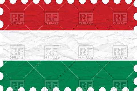 Hungary flag with texture of rumpled paper Vector Image #101191.