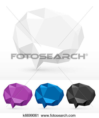 Clipart of Rumpled bubbles for speech k6699061.