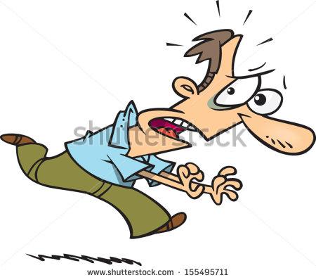 Showing post & media for Cartoon man running away clip art.