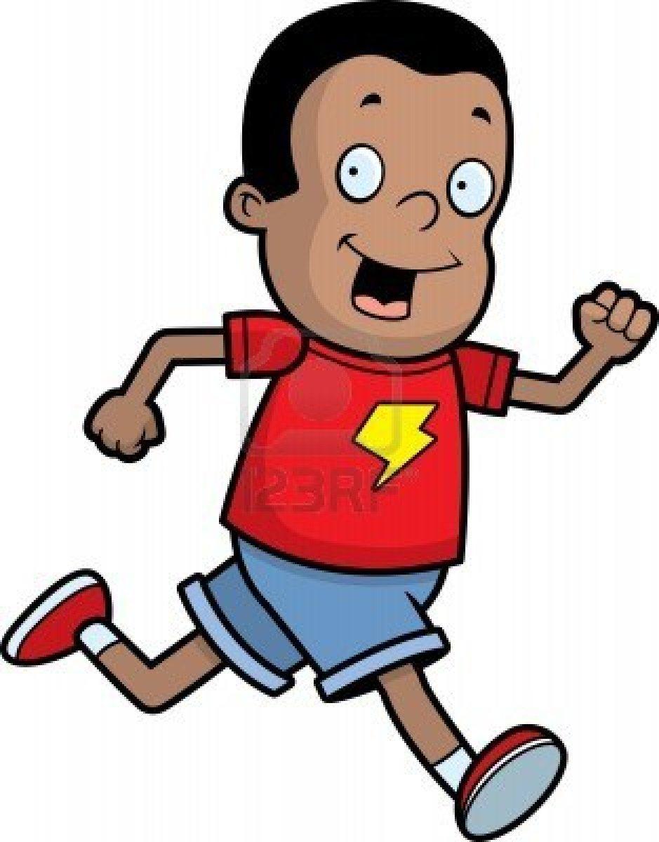 Boy Run To run clip art.