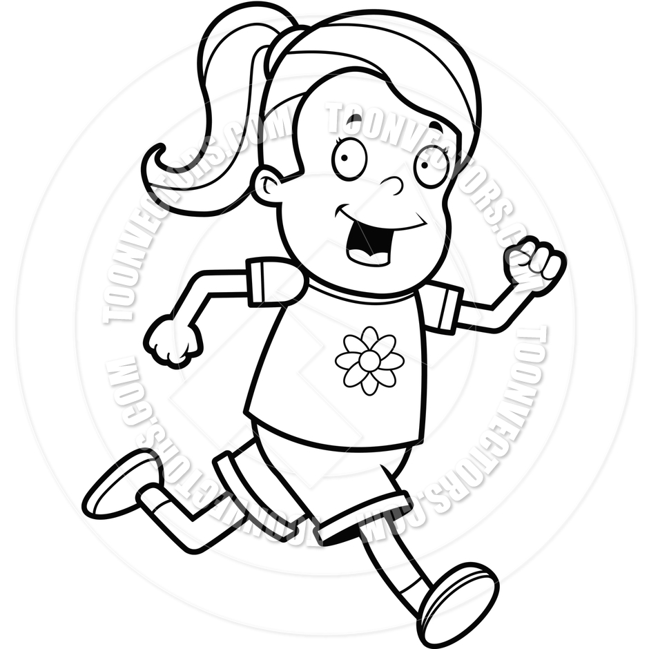 Running clipart black and white 6 » Clipart Station.