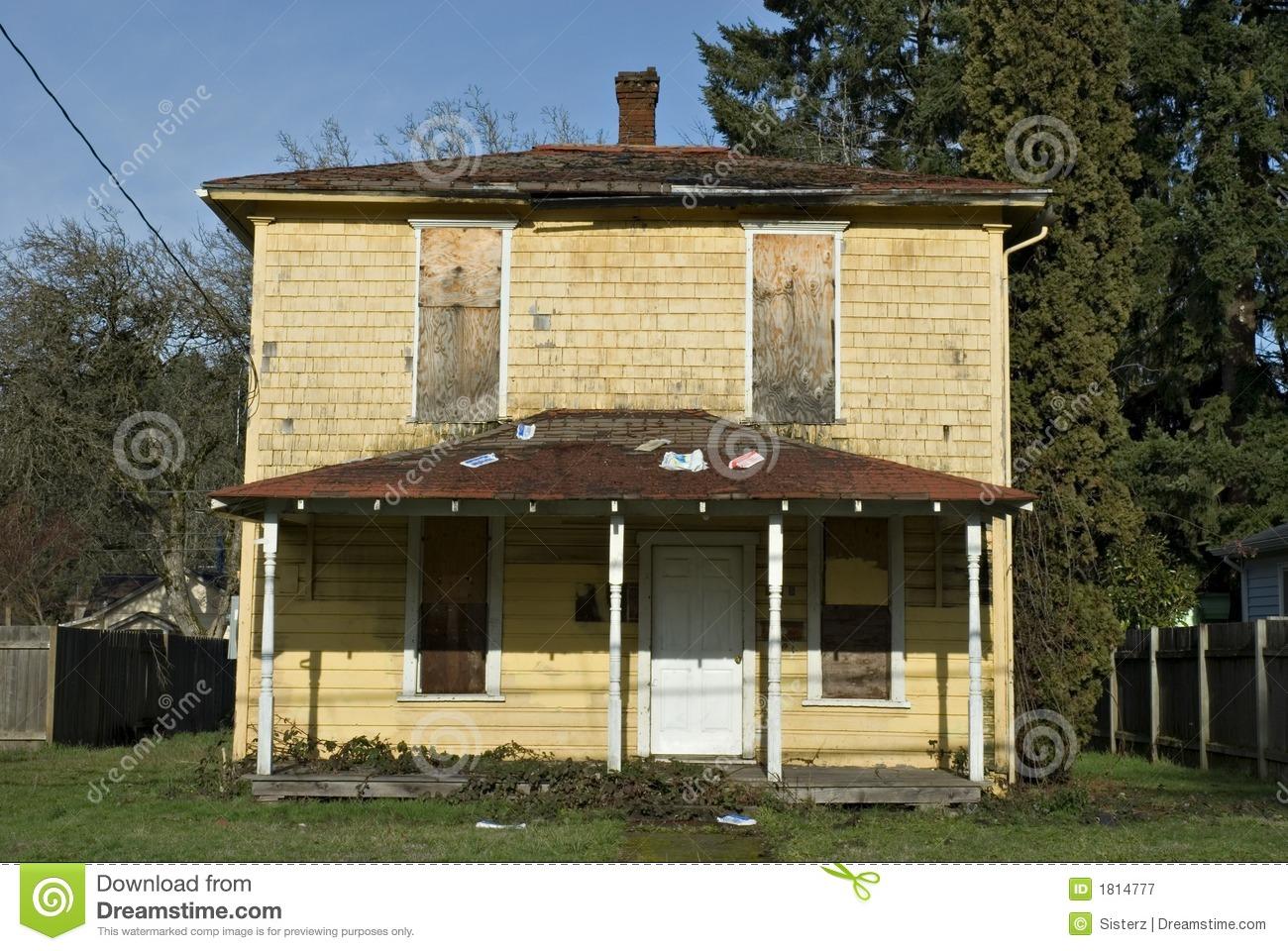 Run Down House Clipart.