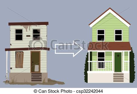EPS Vector of House remodeling project.