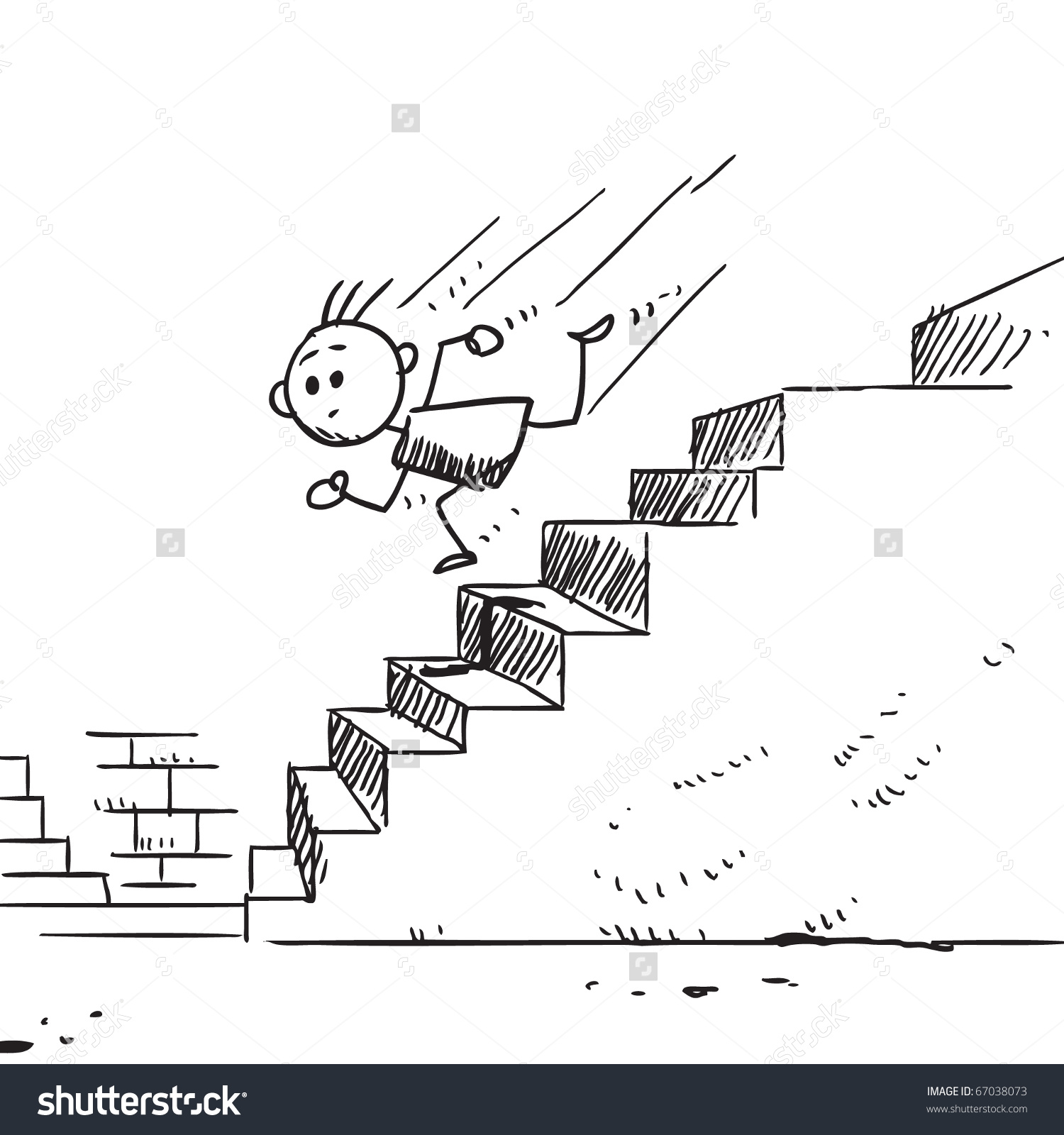 Clipart kids running down stairs.