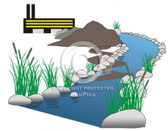 Stormwater Runoff clip art.