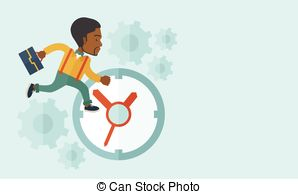 Clip Art Vector of run out of money.