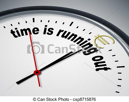 Running out of time clipart.