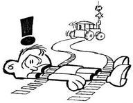 Showing post & media for Cartoon man run over.