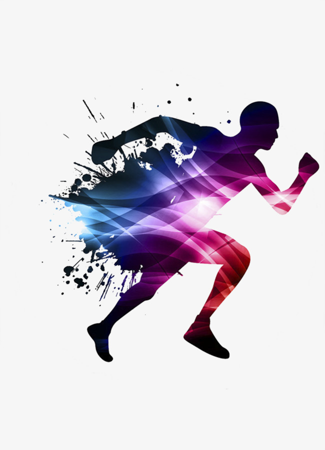 People Running Vector Material, Movement #51323.