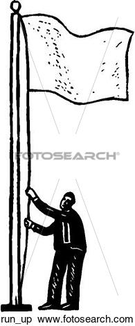 Clipart of Run It Up the Flag Pole run_up.
