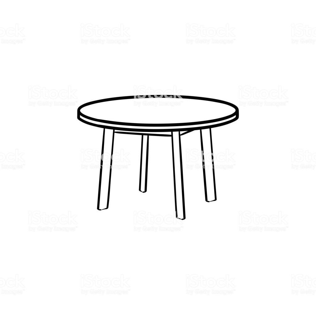 Runder Tisch Clipart.