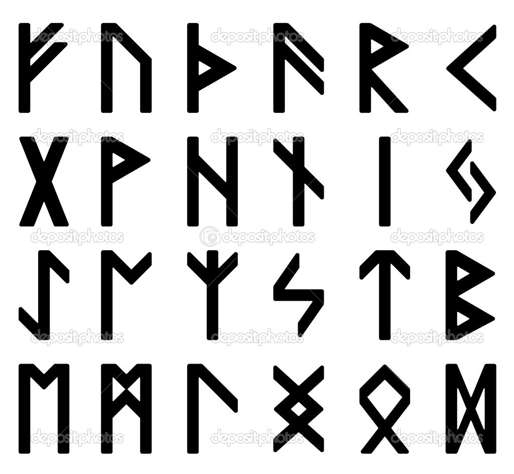 Symbols, magic runes — Stock Photo © LehaKoK #4485924.