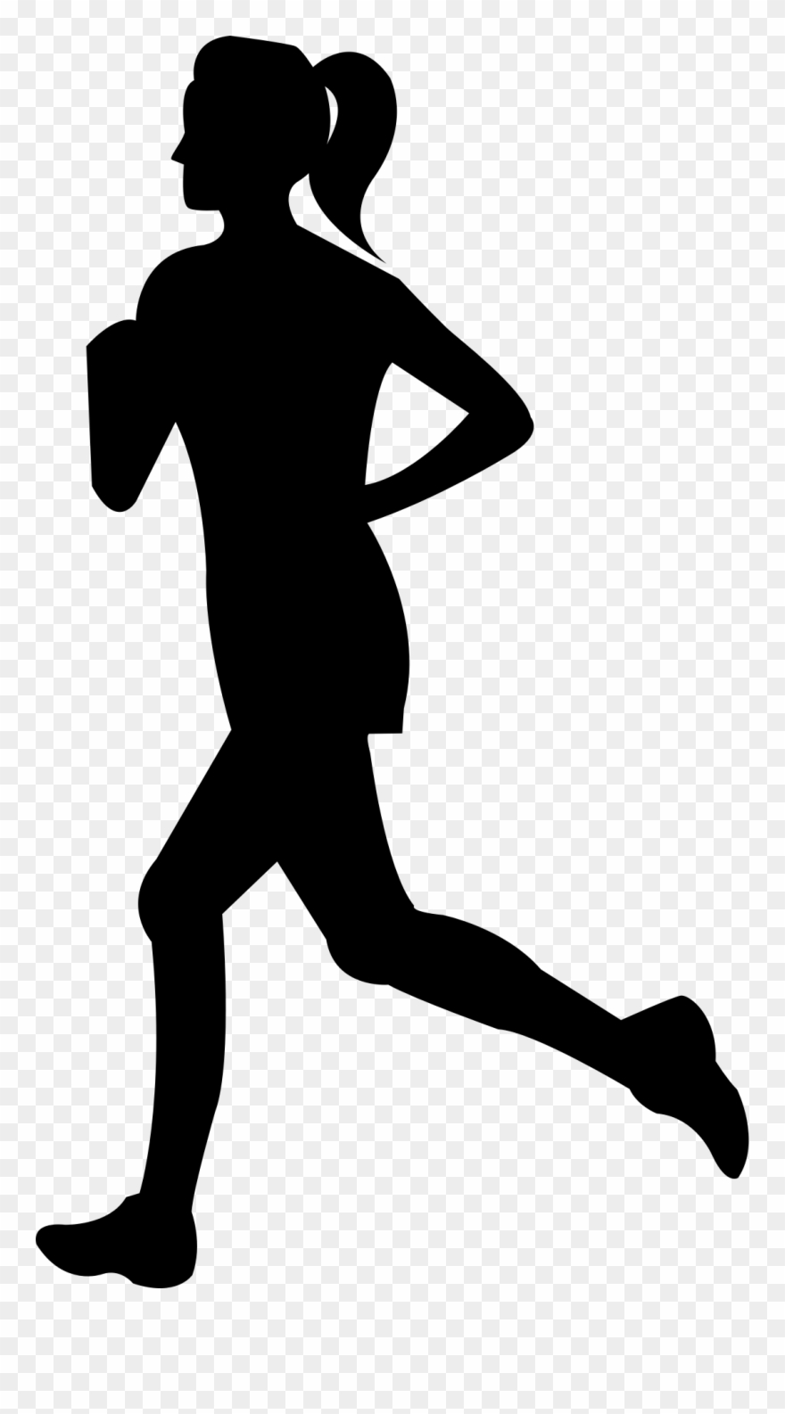 Free Clip Art Of Person Running Clipart Silhouette.