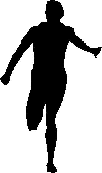 Runner Silhouette Clipart.