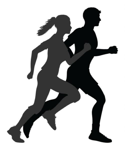Running Silhouette Jogging Clip art.