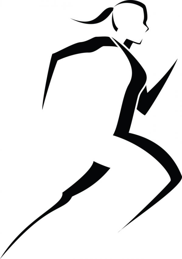 Woman Runner Clipart.
