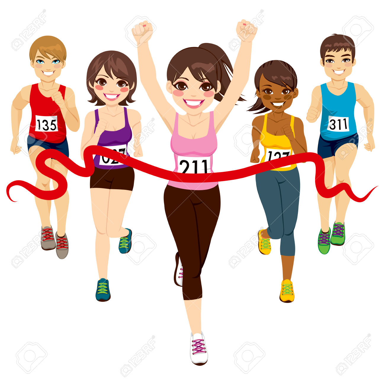 9,418 Finish Line Stock Illustrations, Cliparts And Royalty Free.