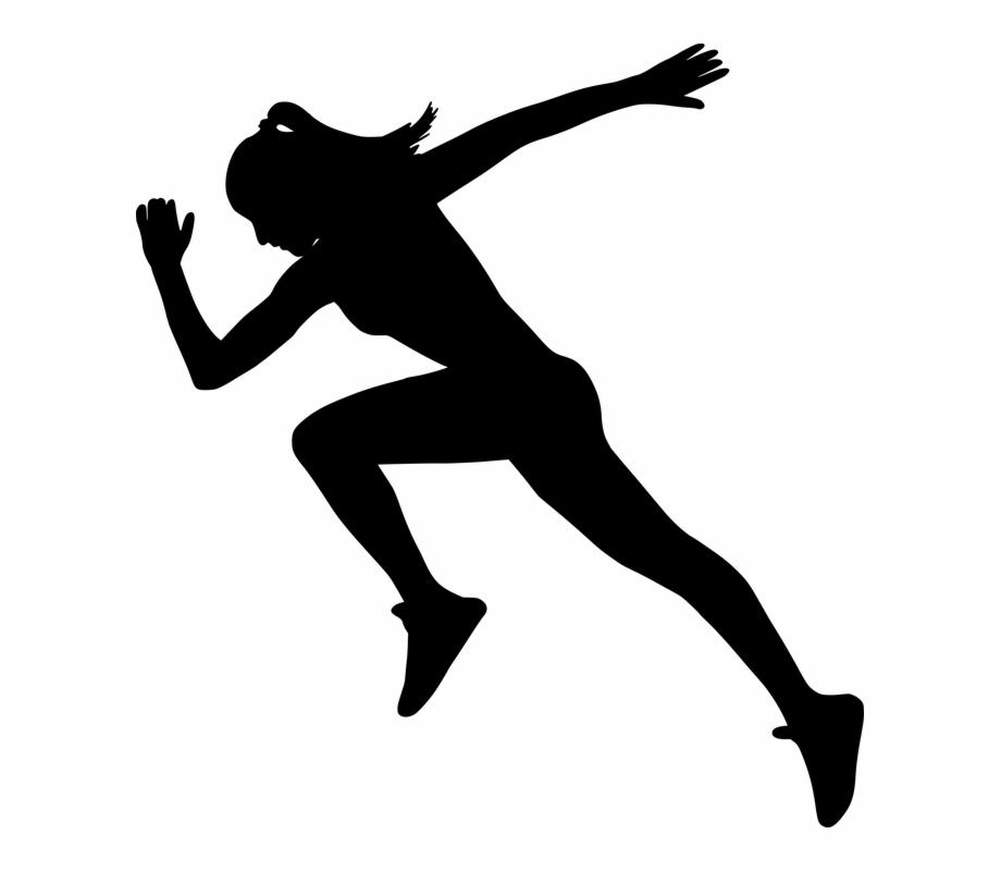 Silhouette Fit Run Gym Runner Workout Woman.