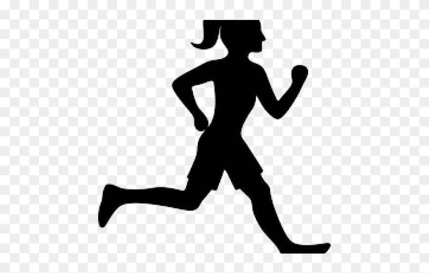 People Silhouette Clipart Runner.