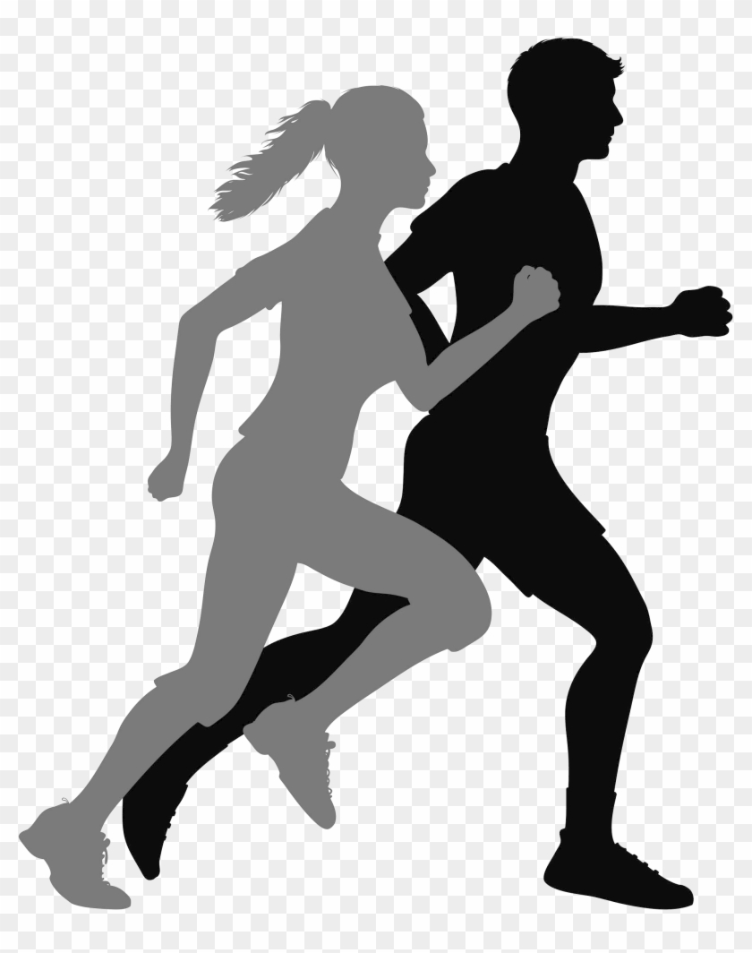 Runner Silhouette Png, Transparent Png.