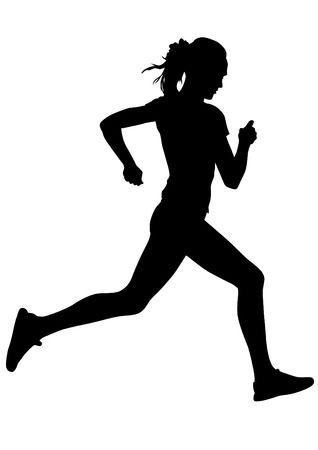 Female runners clipart » Clipart Portal.
