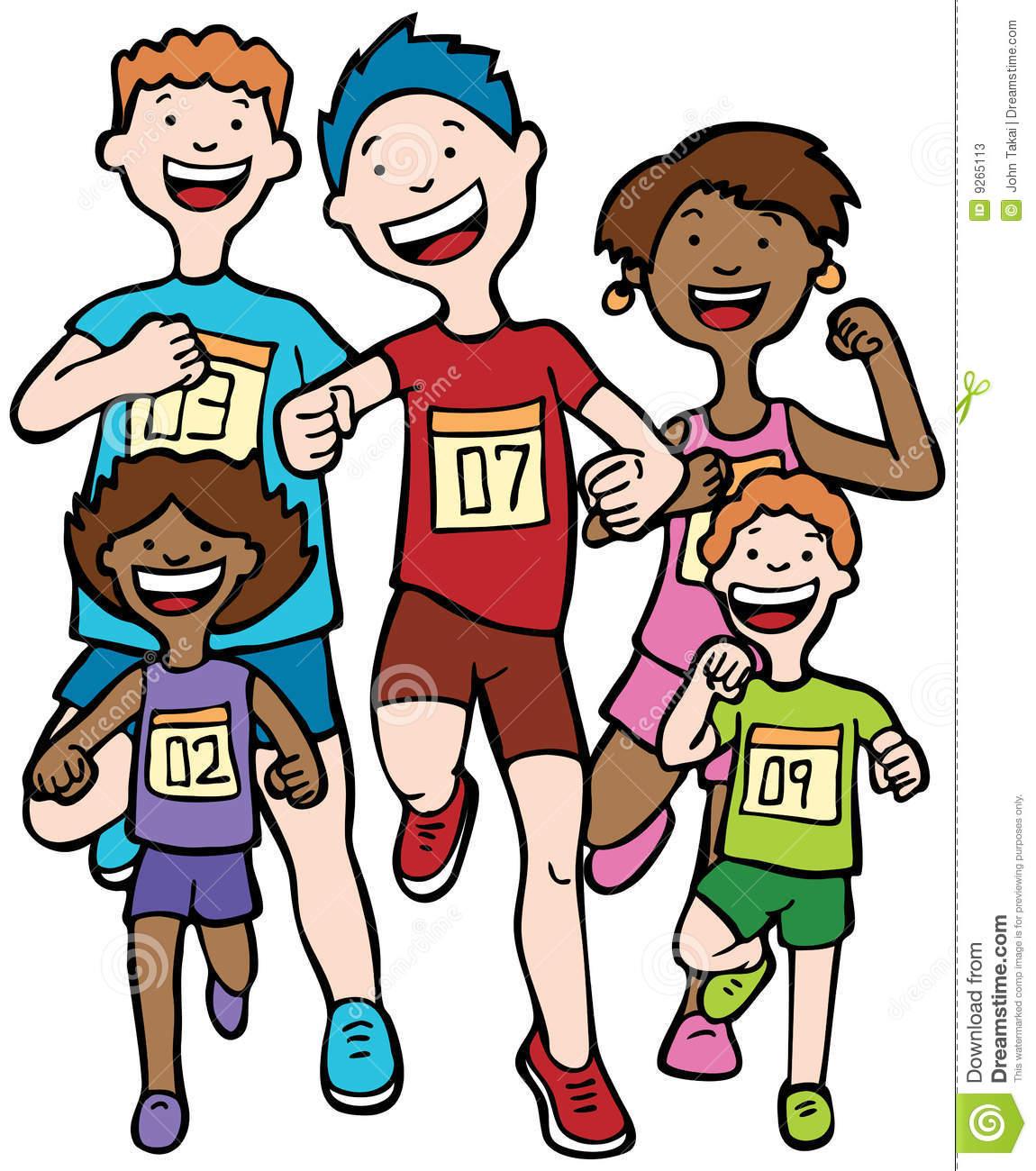 Cartoon Runners Clipart.