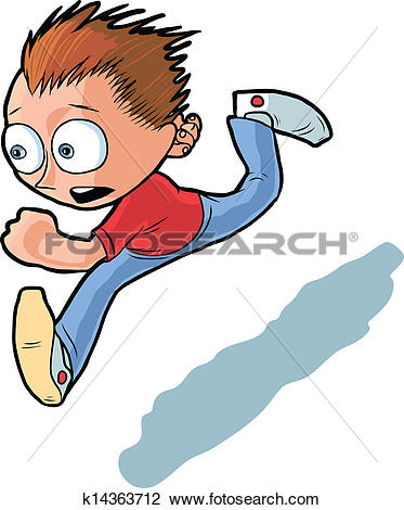 Clipart of Doctor Running With A Syringe k5152711.