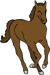 Beautiful clipart of horses.