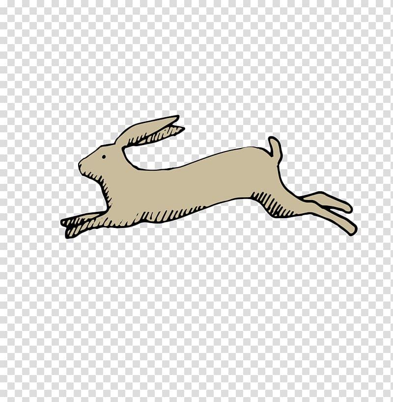 Rabbit, Run, Running rabbit painted transparent background.