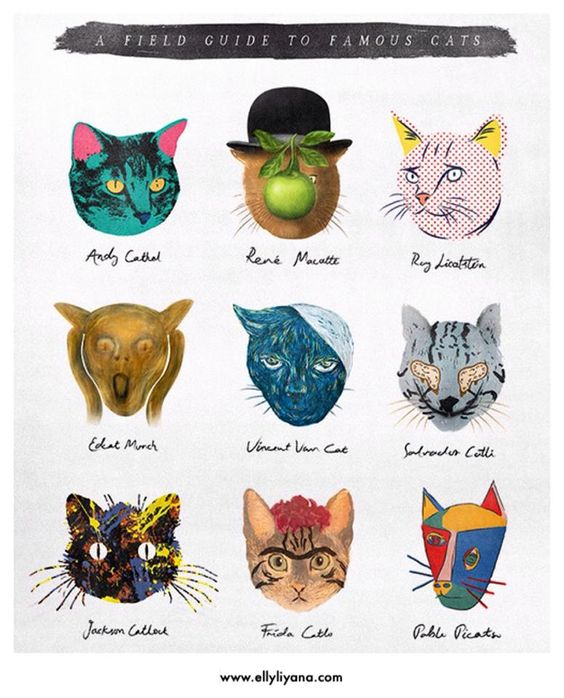 Cats as famous artists.