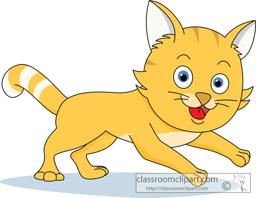 Running Cat Clipart.