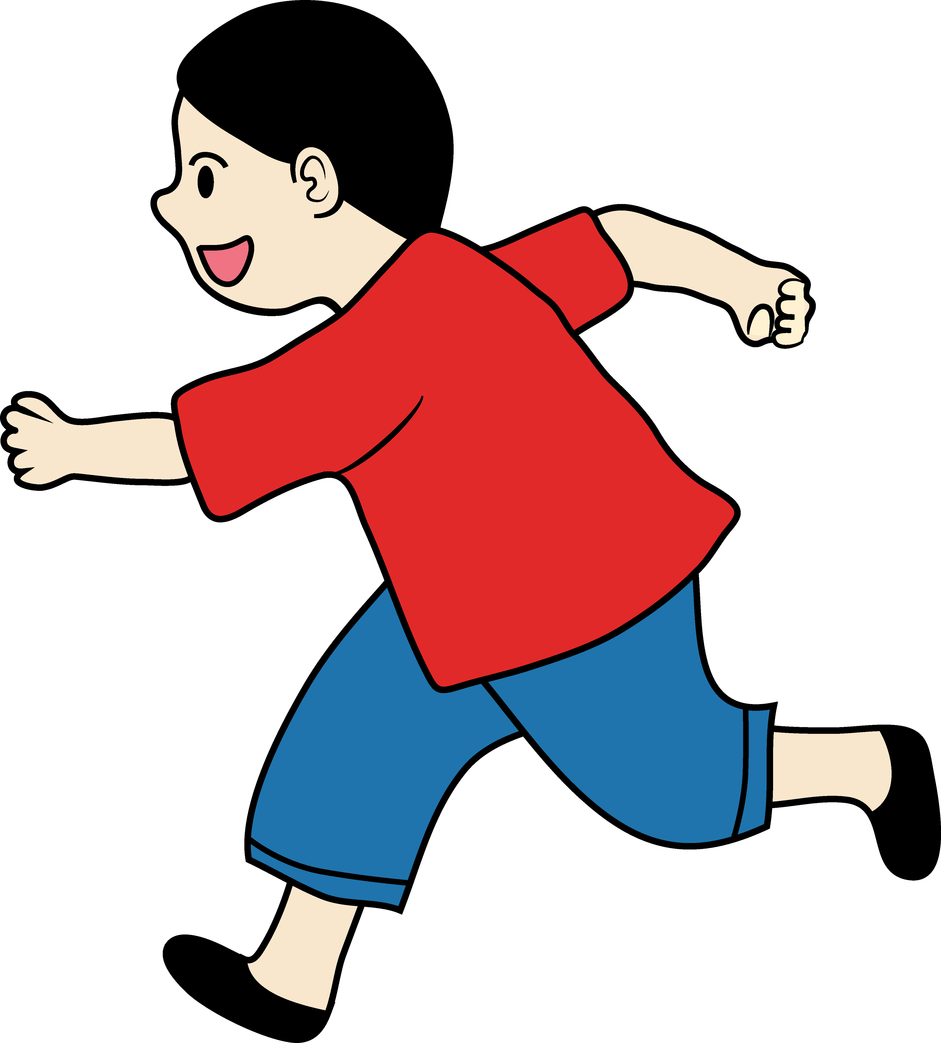 Free Clip art of Person Running Clipart #579 Best Child Running.
