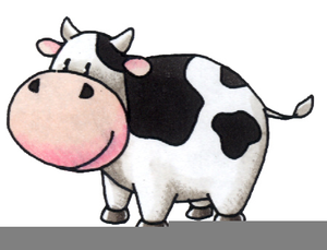 Free Cow Running Clipart.